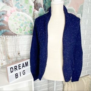 Mossimo Navy Confetti Thick Knit Cardigan
